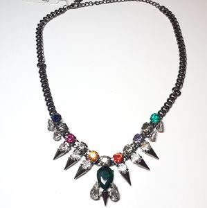 🆕️Cara spike multi-color statement necklace